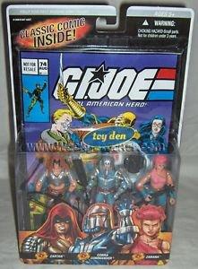 "G.I. JOE - Real American Hero! Comic #74 3-pack 3.75"" Action Figures"