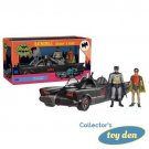 Batman - 1966 TV Series Batman & Robin 3 3/4-Inch Figures with Batmobile Vehicle