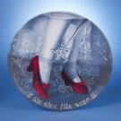 """Wizard of OZ -  Red Ruby Slippers 14"""" Round Tray"""