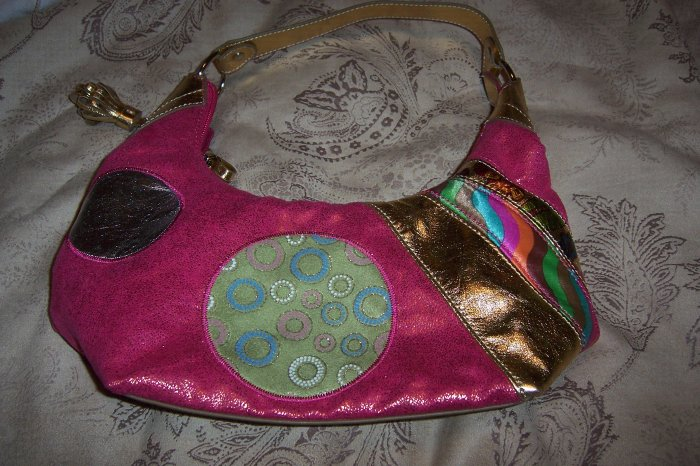 Magenta Patchwork Purse