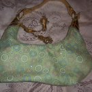 Green & Gold Circle Purse