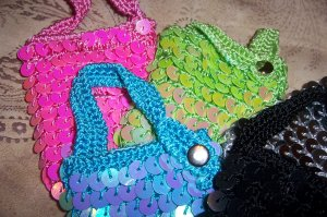 Sequin Cell Phone Mini-Purses