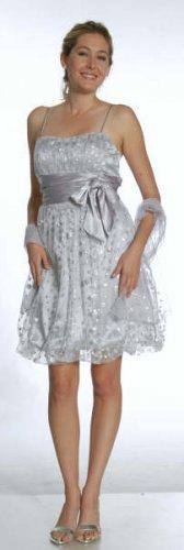 Short silk dress gown