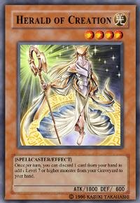 Herald of Creation (For use in Yugioh Online 2 ONLY)