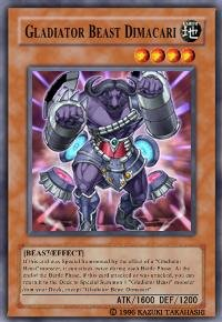 Gladiator Beast Dimacari (For use in Yugioh Online 2 ONLY)