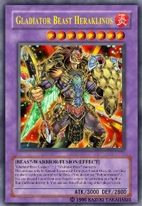 Gladiator Beast Heraklinos (For use in Yugioh Online 2 ONLY)
