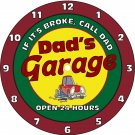 Dad's Garage Work Shop Clock