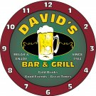Any Name Personalized Bar & Grill Beer Ale Bar Tavern Pub Clock