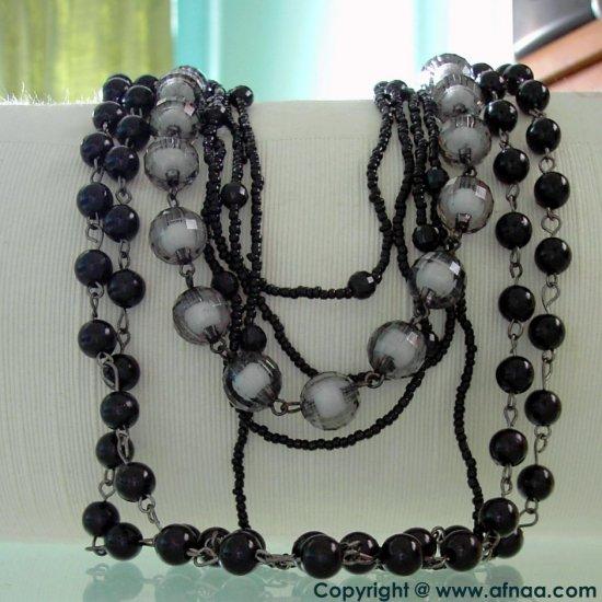Fierce Black Necklace