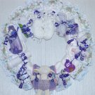 Purple Baby Diaper Wreath #5