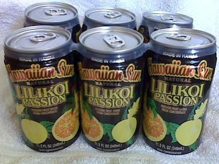 Hawaiian Sun - LILIKOI PASSION fruit juice 6 CANS