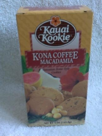 Hawaiian Home Style Cookies - Kauai Kookie - Kona Coffee Macadamia