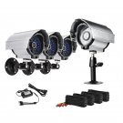 ZMODO CCTV Surveillance Security Day Night IR Outdoor Camera Kit PKC-S12316SV