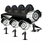 Zmodo 8CH H.264 DVR with 4 Bullet + 4 Dome Sony CCD Outdoor Security Cameras-KDF8-NARCB44N-1T