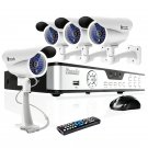Zmodo 4CH Surveillance System with 4 Sony CCD Weatherproof Security Bullet Cameras-KDA4-DASFZ4ZN