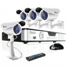 do 4CH Home Security Camera System with 4 Sony CCD Bullet Cameras KDA4-DASFZ4ZN-1TB
