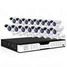 Zmodo 16CH DVR Security System & 16 Sony CCD 420TVL Outdoor Bullet Cameras KDH6-DASFZ6ZN-1TB