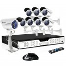Zmodo 16CH CCTV Outdoor Security Camera System with 8 Sony CCD Bullet Cameras-KDH6-DASFZ8ZN