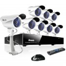 Zmodo 8CH DVR Security Camera Systems with 8 Sony CCD Night Vision Outdoor Cameras KDF8-DASFZ8ZN
