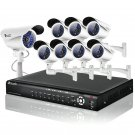 Zmodo 16CH CCTV Outdoor Surveillance System with 8 Sony CCD Security Cameras-KDF6-DASFZ8ZN-1TB