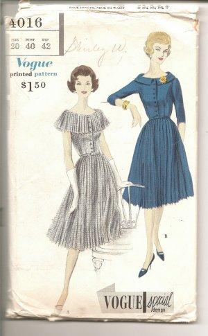 Vintage Vogue Special Design Pattern 4106