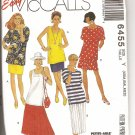 McCall's sewing pattern 6455 Size Xsm, Sml, Med.