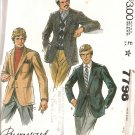 McCall's 7798 Men's Jacket Sewing Pattern Size 40 uncut