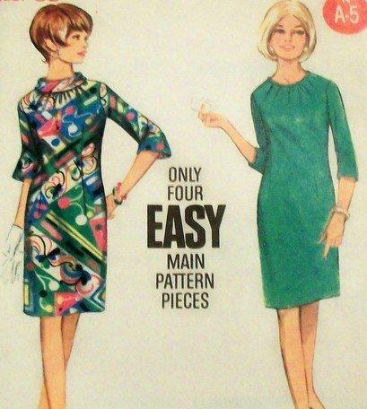 Vintage Butterick Dress pattern 4312 1960's size 14