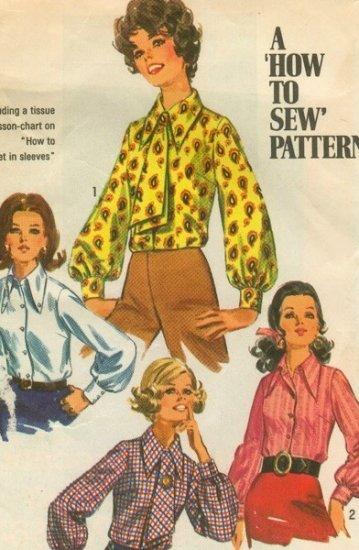 Vintage Blouse pattern Simplicity 8299 Size 10