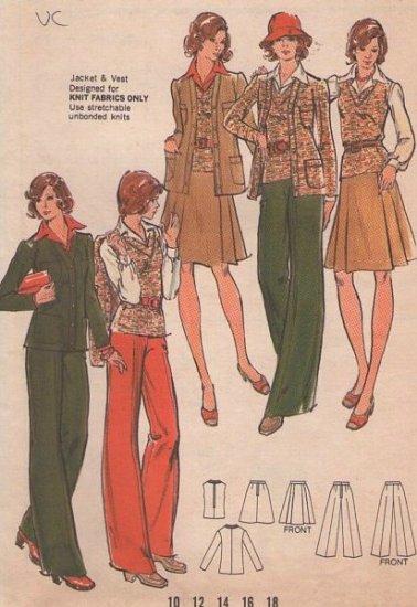 Vintage Butterick Pattern 3351 knit separates
