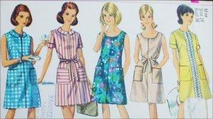 Vintage Simplicity 7025 sewing pattern A line dress size 16 B36