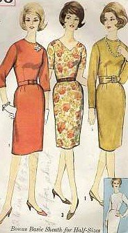 Vintage dress pattern Simplicity 4566 Size 14 1/2 B35