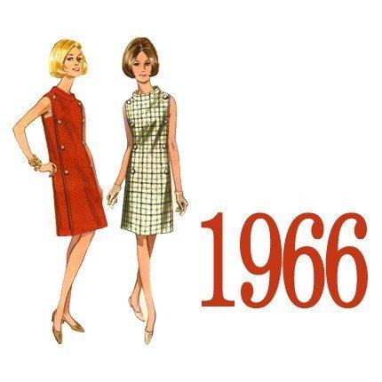 Vintage dress pattern Butterick 4266 Size 14, Bust 34
