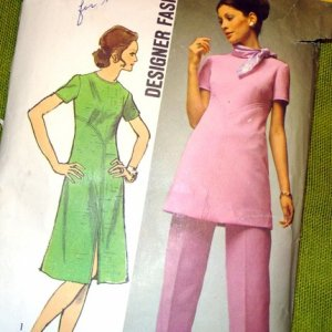 Vintage dress tunic pants pattern Simplicity 9358