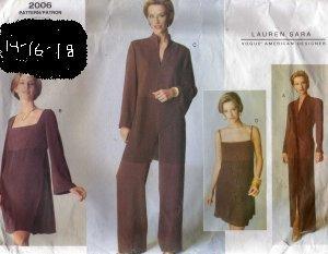 Vogue 2006 Lauren Sara Designer Pattern size 14, 16, 18