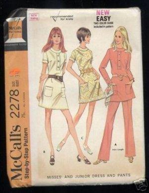 vintage McCall's 2278 Dress pattern