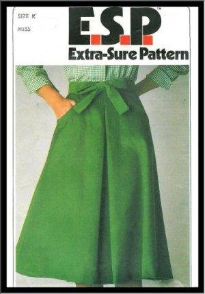 Vintage Wrap Around Skirt Sewing Pattern Easy Fast Simplicity 8151 Size 8