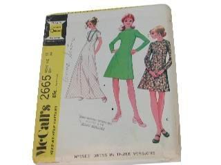 Vintage McCall's Pattern 2665 Dress size 12, Bust 34