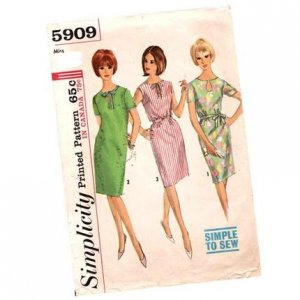 Vintage Simplicity 5909 dress pattern Size 14