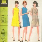 Vintage McCall's 9071 dress pattern 1967 Size 14