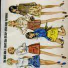 Butterick 5490 retro mini skirt pattern 1960's