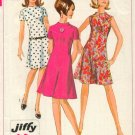 Uncut Vintage Jiffy Dress Pattern 7161 Simplicity Size 14