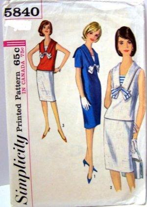 Vintage Simplicity Blouse, Skirt, Dress Pattern 5840 B32