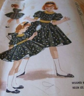 Vintage McCall's 4206 girls dress pattern Size 10, Breast 28