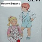 Uncut Kwik Sew Toddler's Sewing Pattern 1676