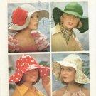 70's Vintage hat pattern Simplicity 6431 floppy wide brim