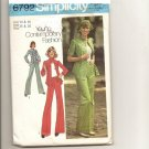 Vintage Sewing Pattern 6792 shirt, pants, scarf Misses size 14, 16