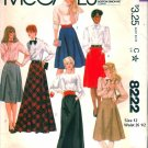 McCall's skirts sewing pattern 8222 Size 12, Waist 26 1/2