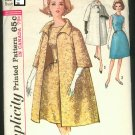Vintage Simplicity 5194 sewing pattern Size 16, Bust 36 dress & coat