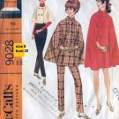 Vintage McCall's Cape Sewing pattern and pants 9028